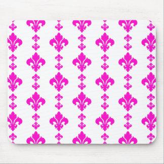 Fleur De Lis 3 Pink Mouse Pads