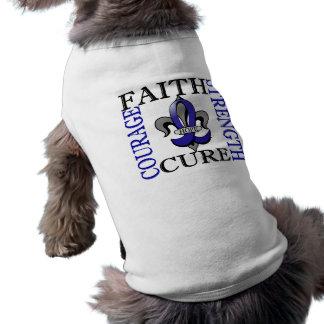 Fleur De Lis 3 Rectal Cancer Dog T-shirt