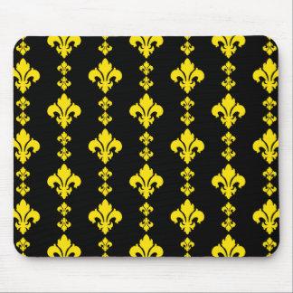 Fleur De Lis 3 Yellow Mousepad
