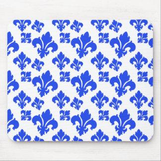Fleur De Lis 4 Blue Mouse Pads