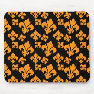 Fleur De Lis 4 Orange Mousepad
