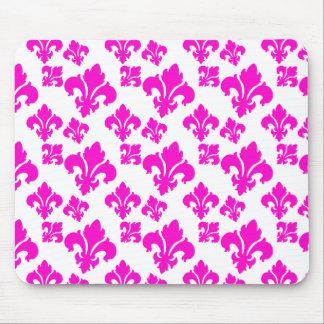 Fleur De Lis 4 Pink Mouse Pad