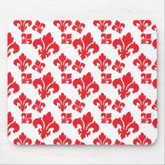 Fleur De Lis 4 Red Mousepads