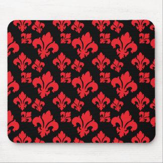 Fleur De Lis 4 Red Mousepad
