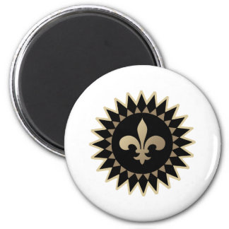 Fleur De Lis 6 Cm Round Magnet