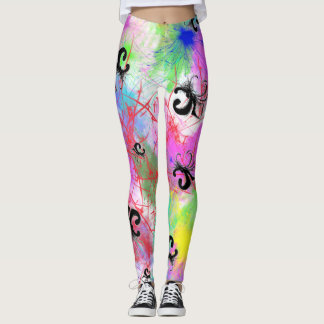fleur-de-lis abstract leggings (limited Run) yoga