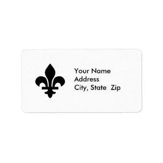 Fleur de Lis Address Label