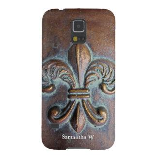 Fleur De Lis, Aged Copper-Look Printed Galaxy S5 Cover