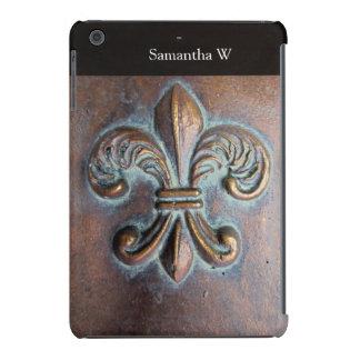 Fleur De Lis, Aged Copper-Look Printed iPad Mini Covers