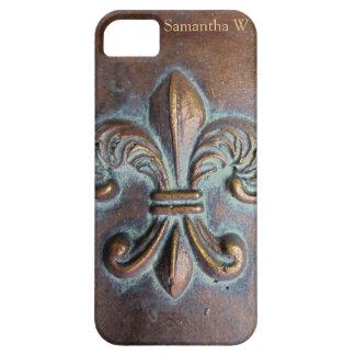Fleur De Lis, Aged Copper-Look Printed iPhone 5 Cases