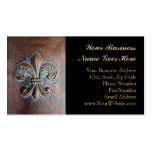 Fleur De Lis, Aged Copper-Look Printed Pack Of Standard Business Cards