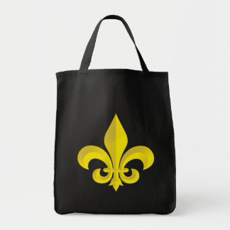 Fleur De Lis Art Gold Grocery Tote Bag