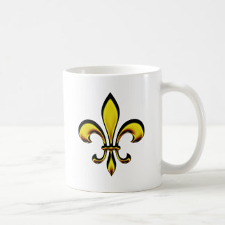 Fleur De Lis Basic White Mug