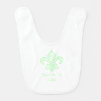 Fleur de Lis bébé™ Baby Mint Green Bib