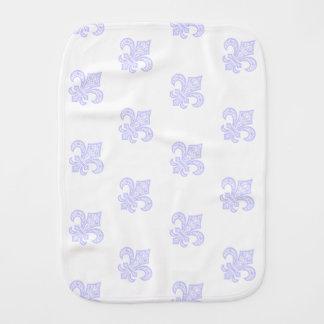 Fleur de Lis bébé™ Burp Cloth White/Lavender
