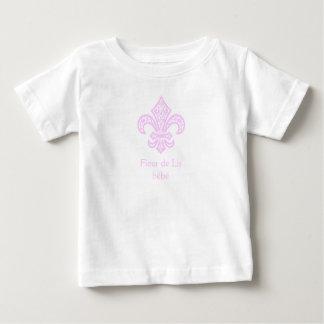 Fleur de Lis bébé™ T-Shirt, White/Pink Baby T-Shirt