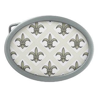Fleur-de-Lis Belt Buckle (bold pattern - gold)