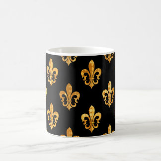 Fleur de Lis/black/gold/DIYbackground Coffee Mug