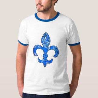 Fleur de lis Blue Bandana t-shirt