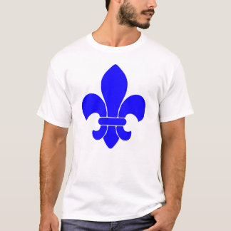 fleur de lis blue  T-Shirt