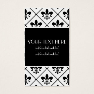 Fleur De Lis Border Business Card