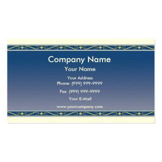 Fleur de lis border business card