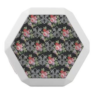 Fleur-de-lis Bouquets on Black White Boombot Rex Bluetooth Speaker