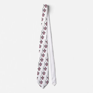 Fleur De Lis Breast Cancer Hope Tie