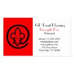 Fleur-de-lis Business Card Template