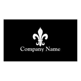 Fleur de lis business card template | Black