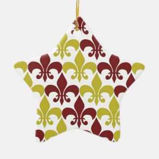 Fleur De Lis Ceramic Star Decoration