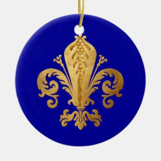 Fleur-de-lis Christmas Ornament