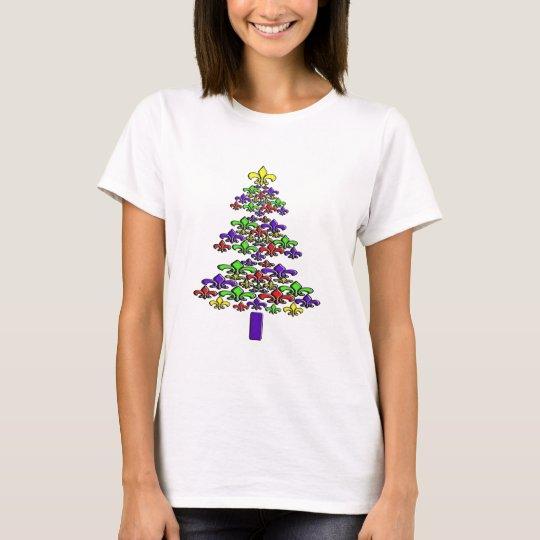 Fleur de Lis Christmas Tree Shirt