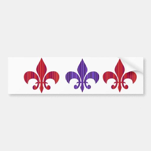 Fleur De Lis Collection Bumper Sticker Zazzle