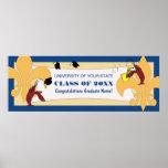Fleur de Lis Crawfish Graduation Banner