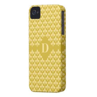 Fleur-De-Lis Custom Monogram Blackberry Bold case