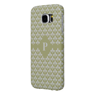 Fleur-De-Lis Custom Monogram phone cases Samsung Galaxy S6 Cases