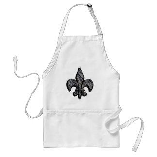 Fleur-de-lis customize it adult apron
