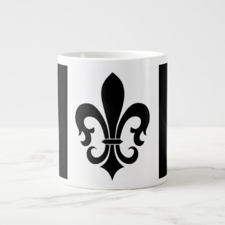 FLEUR DE LIS DESIGN JUMBO COFFEE MUG