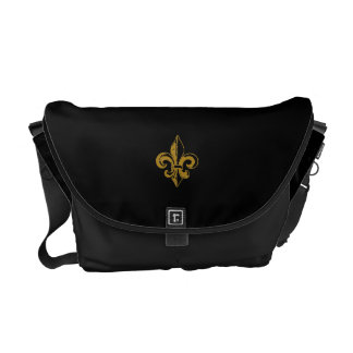 FLEUR DE LIS DESIGN MESSENGER BAG
