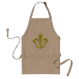 Fleur De LIs Fancy Gold New Orleans Standard Apron