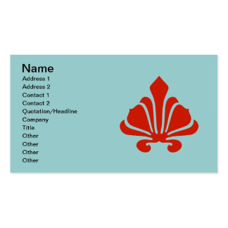 Fleur De Lis Fancy Red,  Add Your Text Pack Of Standard Business Cards