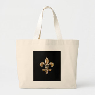 Fleur De Lis Flor  New Orleans Customize Gold Canvas Bags