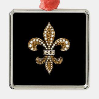 Fleur De Lis Flor  New Orleans Customize Gold Christmas Ornament