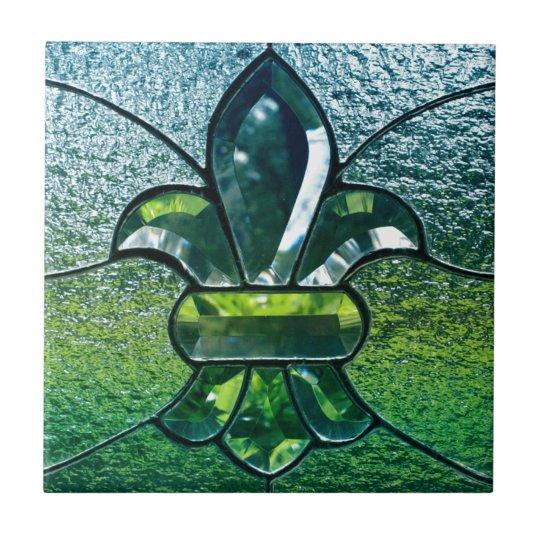 Fleur De Lis Flor New Orleans Green Sparkle
