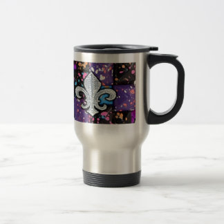Fleur De Lis Flor  New Orleans Jewel Abstract Travel Mug