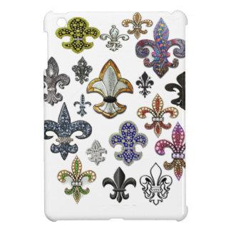Fleur De Lis Flor  New Orleans Jewel Sparkle iPad Mini Case