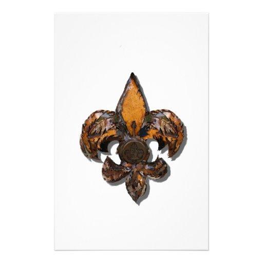 Fleur De Lis Flor  New Orleans Rustic Customized Stationery