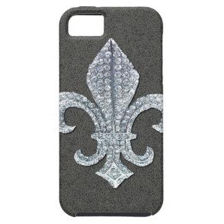 Fleur De Lis Flor  New Orleans Stone Jewel iPhone 5 Covers