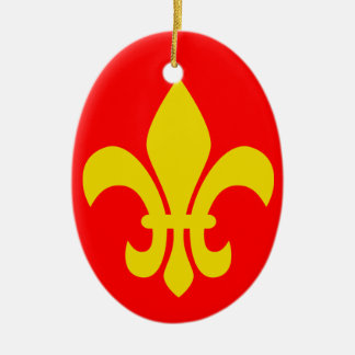 Fleur de Lis* France Christmas Ornament